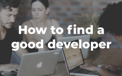 How to find a good developer